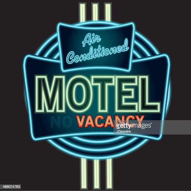 Late night retro Motel Neon sign