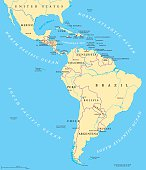 Latin America political map