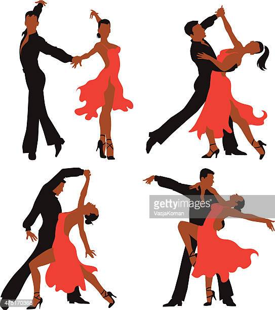 Latin Dancing Couples - Colored Set