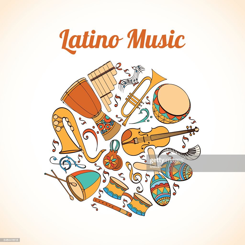Latino musical card