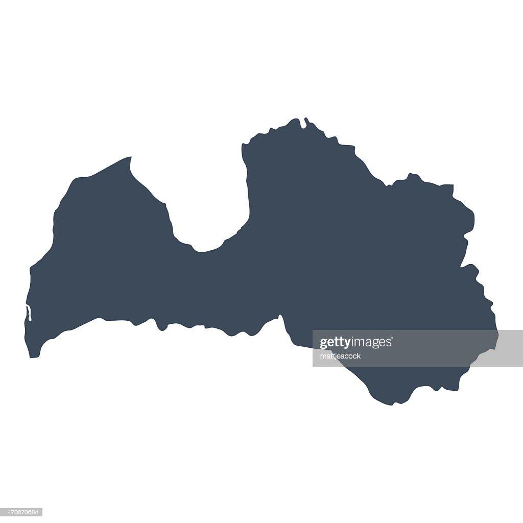 Latvia country map