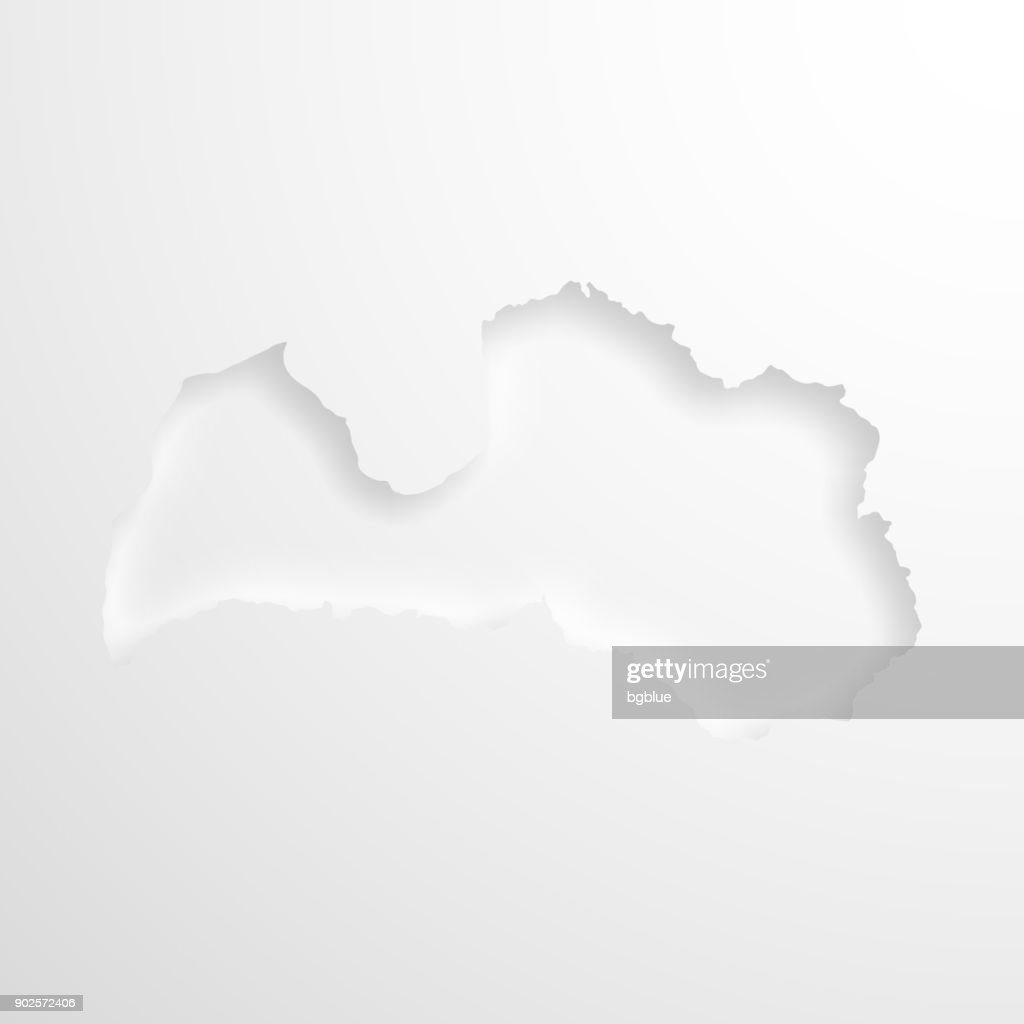 Latvia map with embossed paper effect on blank background vector art latvia map with embossed paper effect on blank background vector art publicscrutiny Gallery