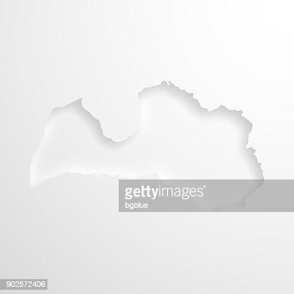 Latvia map with embossed paper effect on blank background vector art latvia map with embossed paper effect on blank background vector art getty images publicscrutiny Gallery