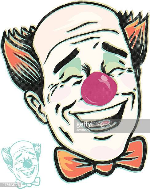 laughing clown lol time - hysteria stock illustrations