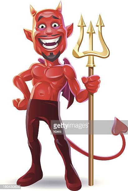 laughing devil - devil stock illustrations