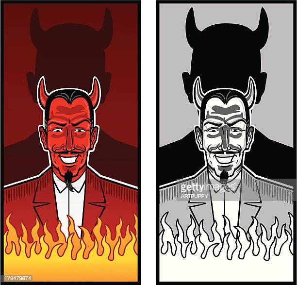 Laughing Devil With Fire