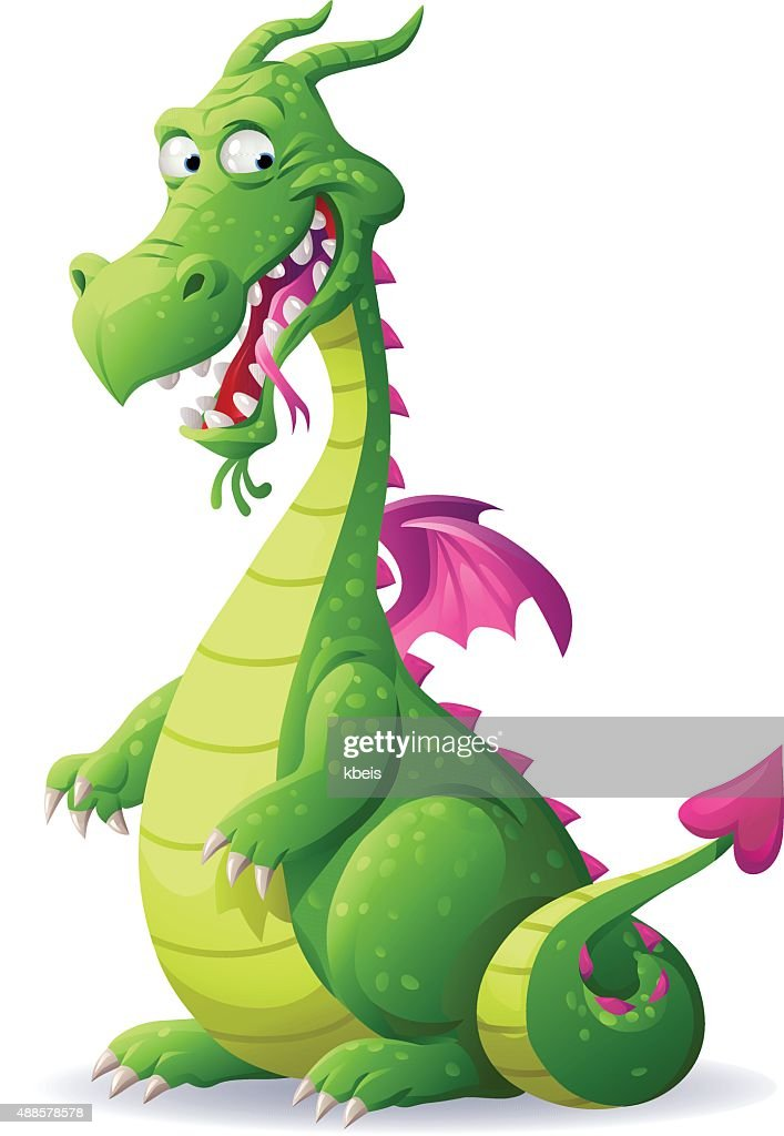 Laughing Green Dragon : stock illustration
