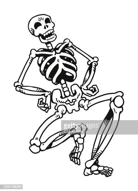 laughing skeleton - skeleton stock illustrations, clip art, cartoons, & icons