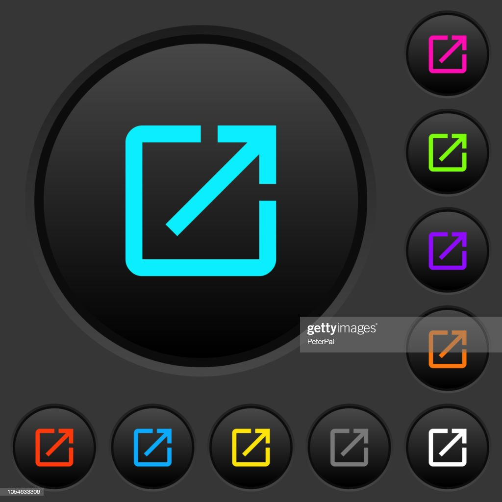 Launch application dark push buttons with color icons