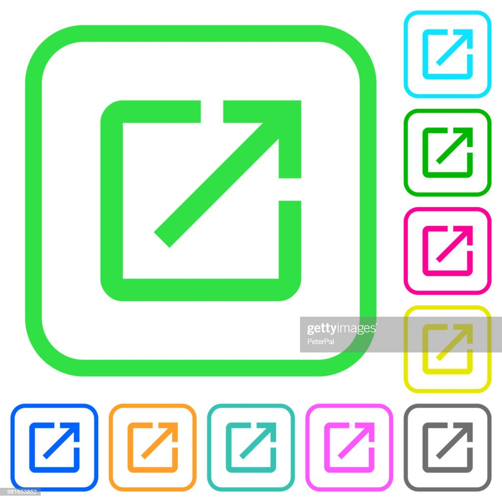 Launch application vivid colored flat icons