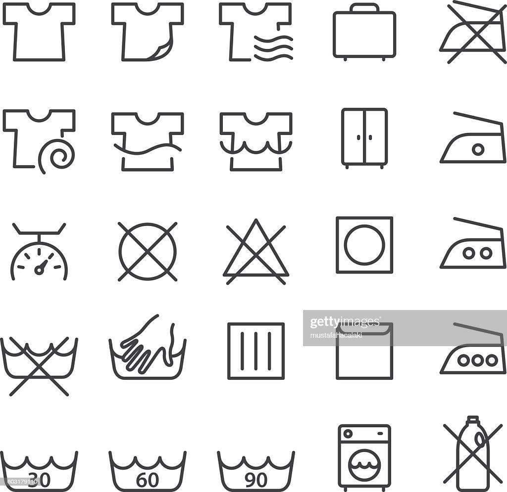 Laundry and washing symbols