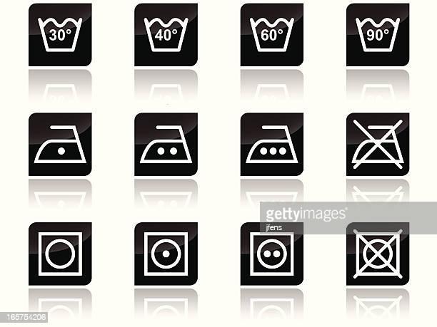Soin symboles de blanchisserie