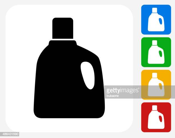 laundry detergent icon flat graphic design - laundry detergent stock illustrations, clip art, cartoons, & icons