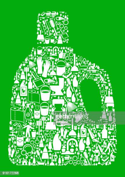 laundry detergetnt  cleaning green background pattern - laundry detergent stock illustrations, clip art, cartoons, & icons