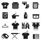 Laundry Icons [Black Edition]