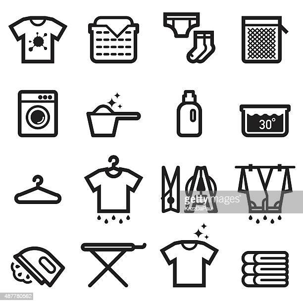 laundry icons - laundry detergent stock illustrations, clip art, cartoons, & icons