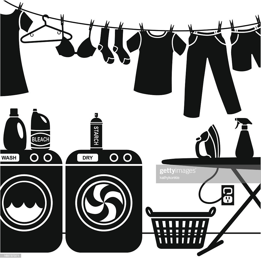 Laundry Art Laundry Room Vector Art  Getty Images