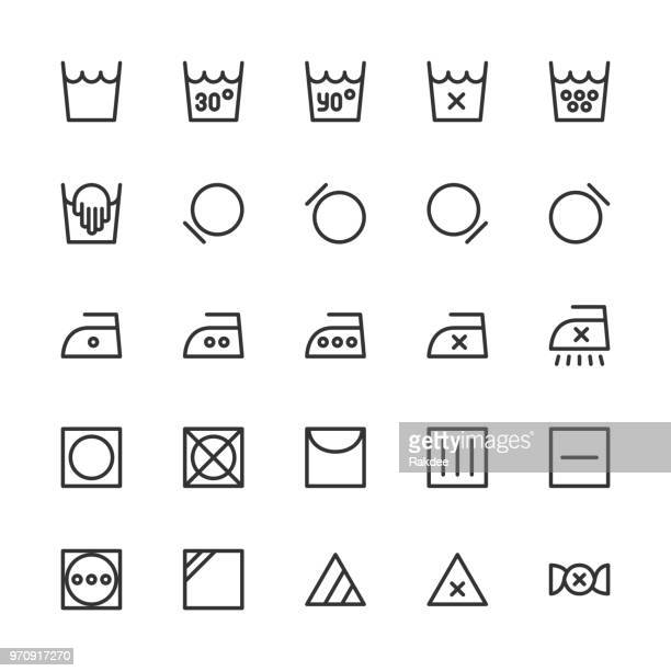 laundry sign icon - line series - laundry detergent stock illustrations, clip art, cartoons, & icons