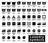 laundry symbols set
