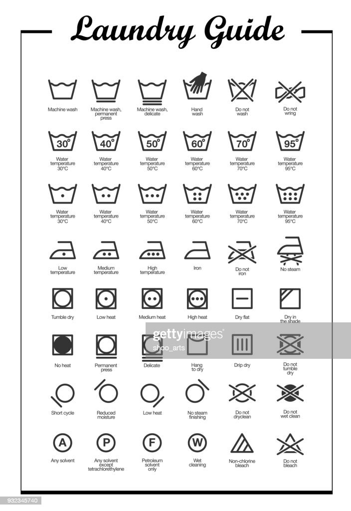 Laundry Vector Icons set, full collection
