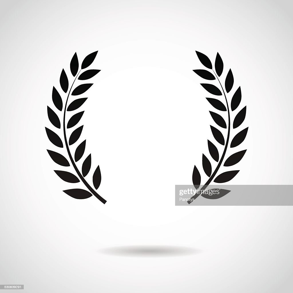 Laurel icon isolated on white background.