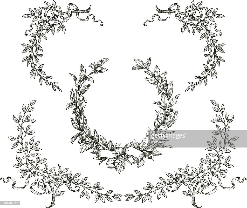 Laurel wreath and branches