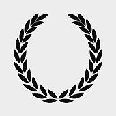 laurel wreath icon , sports label