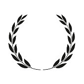 Laurel wreath isolated. Vector icon illustration.
