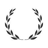 Laurel wreath isolated. Vector icon.