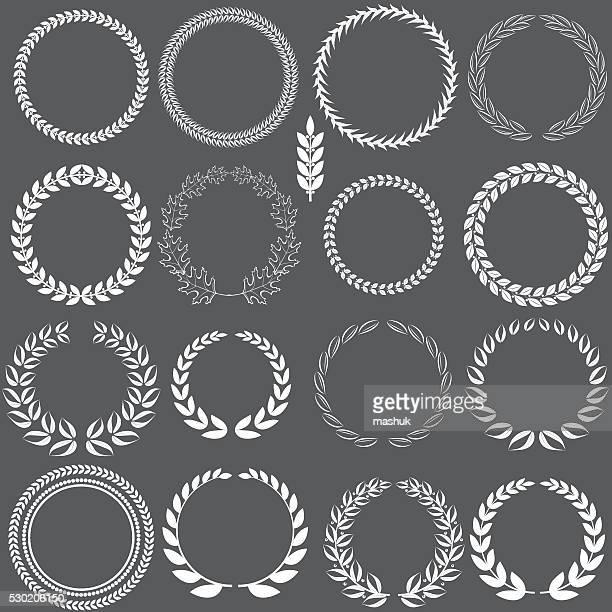 laurel wreath - laurel wreath stock illustrations