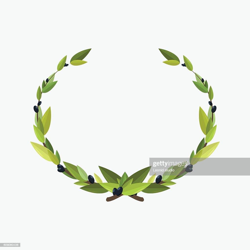 laurel wreaths olive branch