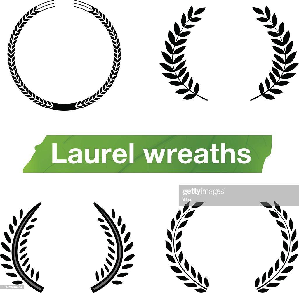 Laurel Wreaths Vector. Elements
