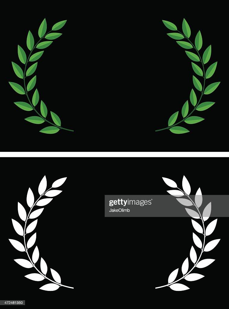 Laurels : stock illustration