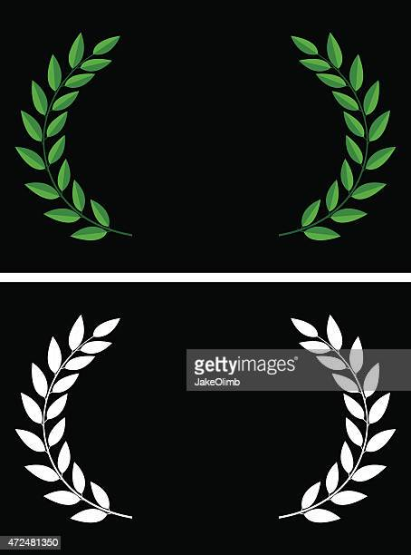 laurels - greece stock illustrations