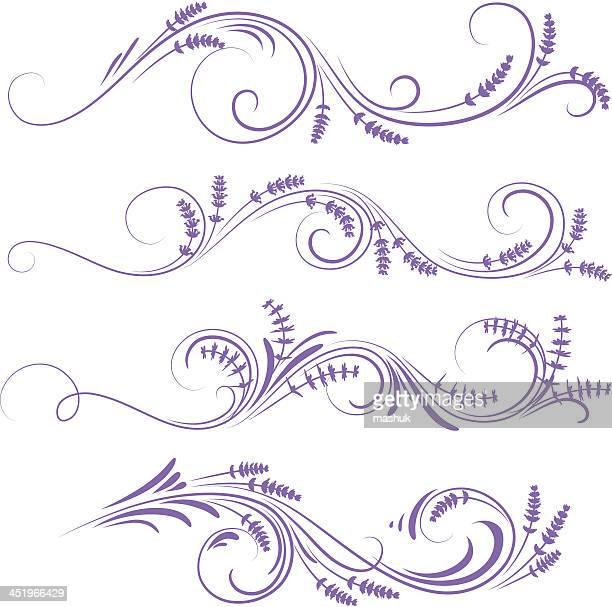 ilustraciones, imágenes clip art, dibujos animados e iconos de stock de adorno de lavanda - lavanda