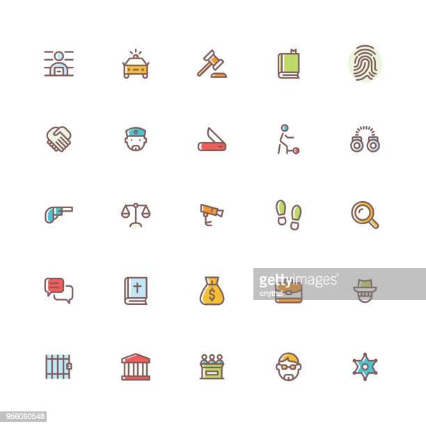 law and compliance multicolored icons - accessibility stock illustrations, clip art, cartoons, & icons