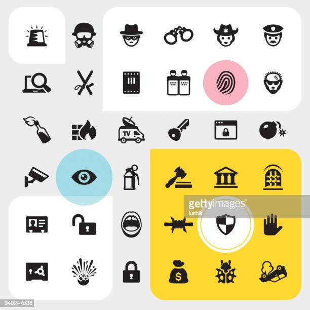 Law and Crime icon set