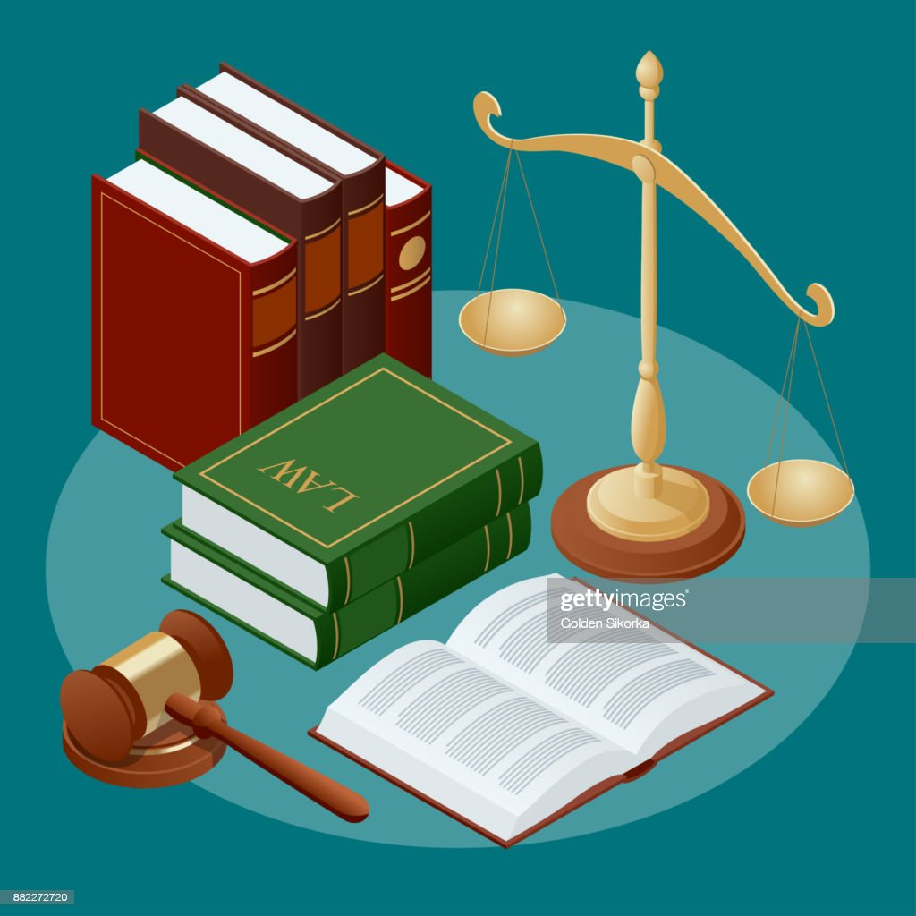 Law And Justice Conept Symbol Of Law And Justice Flat Icon Vector