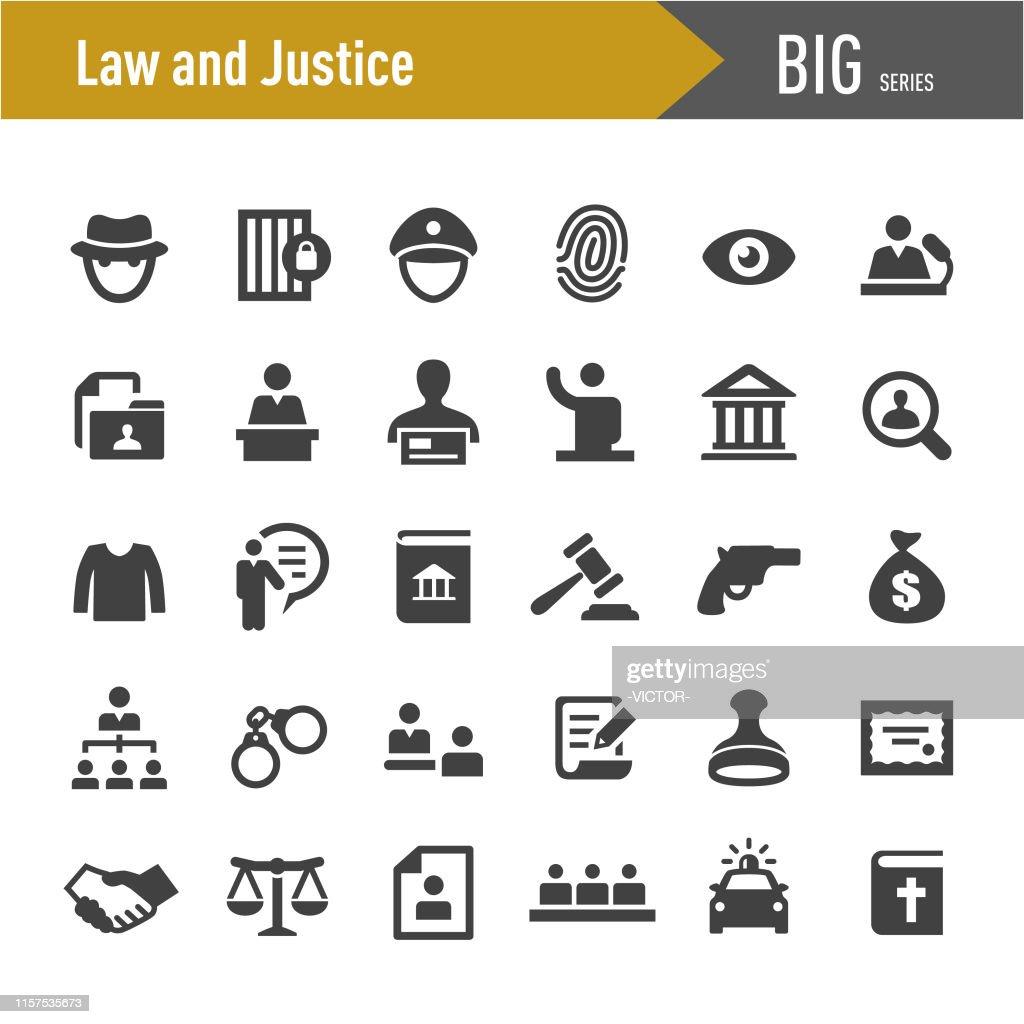 Rechts- und Gerechtigkeitsikonen - Big Series : Stock-Illustration