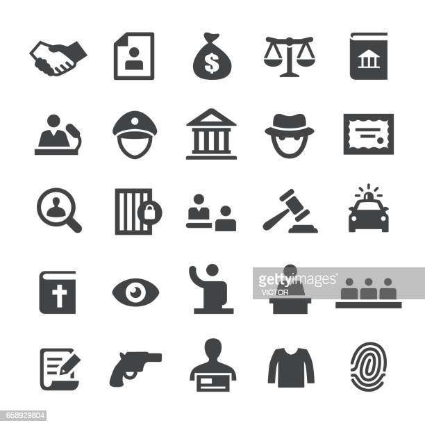 law and justice icons - smart series - scales stock illustrations