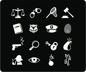 Law and Justice Icons - White
