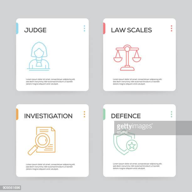 Law and Justice Infographic Design Template