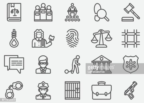 Law and Justice Line Icons