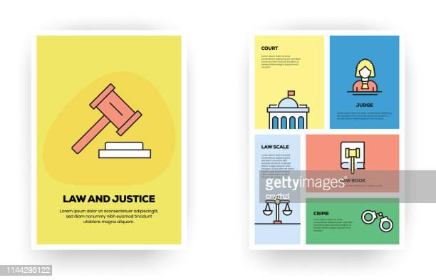法と司法関連のインフォグラフィック - 法律関係の職業点のイラスト素材/クリップアート素材/マンガ素材/アイコン素材
