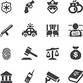 Law and Justice Silhouette icons| EPS10