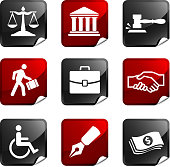 law and legal nine royalty free vector icon set