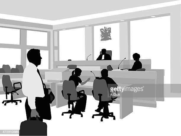 law courthouse - plaintiff stock illustrations