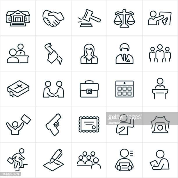 recht, kriminalität und justiz icons - crime or recreational drug or prison or legal trial stock-grafiken, -clipart, -cartoons und -symbole