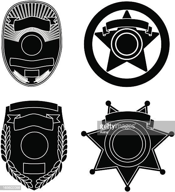 Law Enforcement Badge Silhouettes