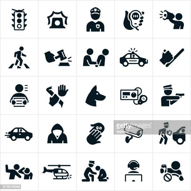 law enforcement icons - arrest stock illustrations, clip art, cartoons, & icons